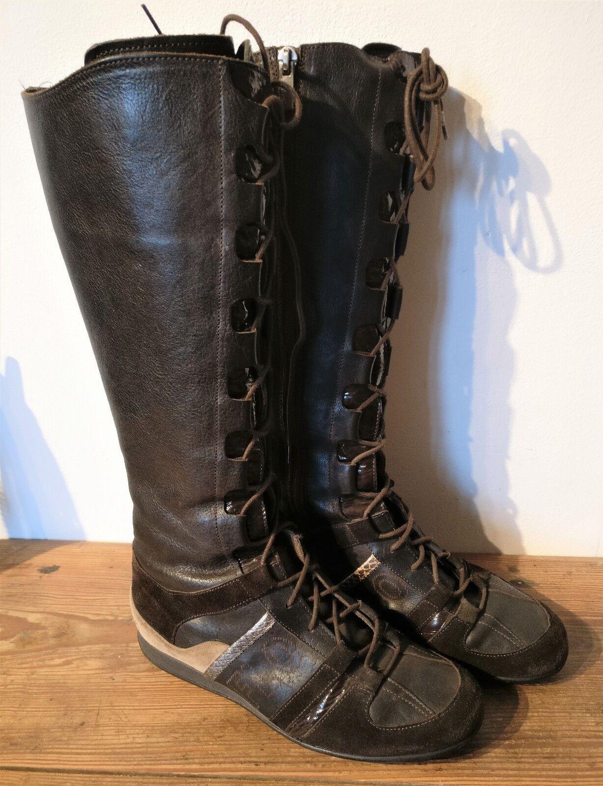 FLORIS VAN BOMMEL , leather boots   size 37