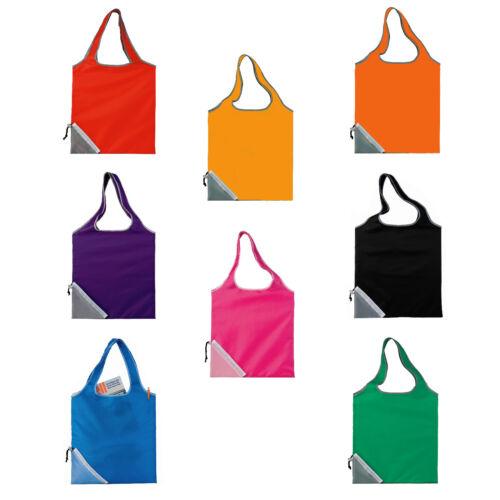 Foldable Ultra Light Cinch Corner Tote Shopping Bag with Shoulder-length handles