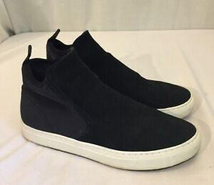 Zara Man Mens Black Suede High Top Slip