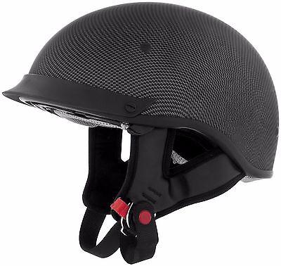 Cyber Carbon Half Open Face DOT Helmet For Harley Davidson Motorcycle Bike MD