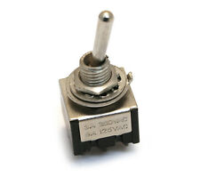 RP191N Nickel Retro Parts Mini Toggle Switch On-On For Guitar/Bass DPDT