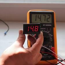 Mini DC 0-30V voltmeter tester Digital voltage meter test battery red auto car