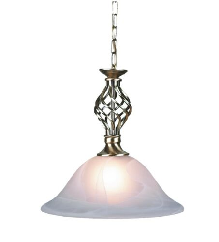 Traditional classic single pendant ceiling light barley twist with traditional classic single pendant ceiling light barley twist with murano glass antique brass aloadofball Image collections