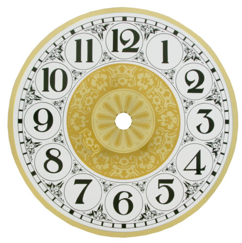 New Fancy Filigree Round Metal Clock Dial with Arabic or Roman Numbers 3 Sizes!