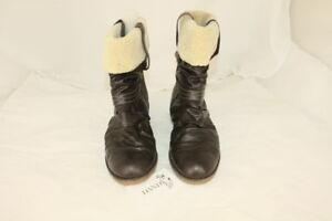 Damen-Stiefel-Rieker-Gr-42-Schwarz-Beige-es000011