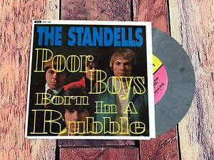 THE STANDELLS Poor Boys / Born in a Rubble Picture Sleeve 45 Grey Wax Record VTG