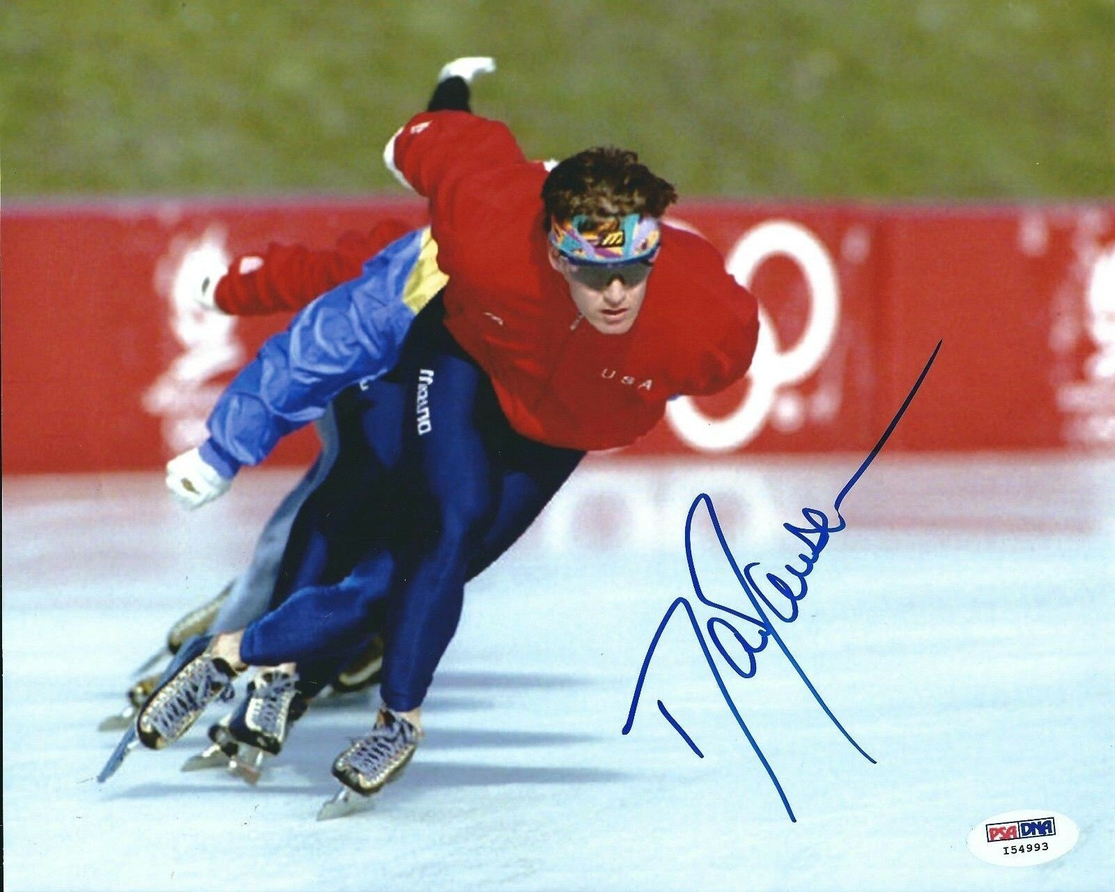 Dan Johnson Signed Olympic Ice Skating 8x10 Photo PSA I54993