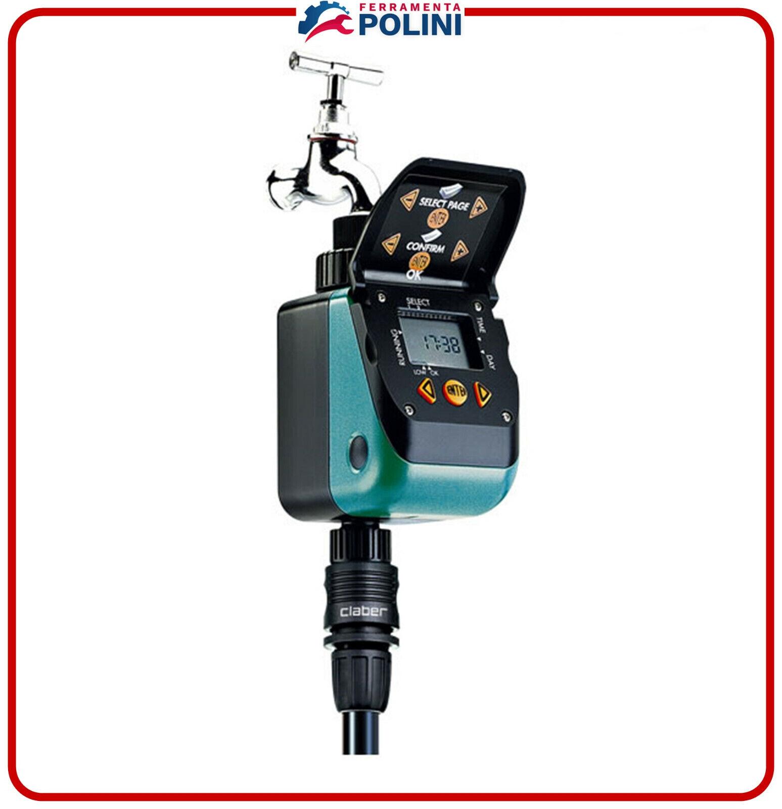 Claber 8412 Unidad de Control Programador Aquauno Video-2 Plus X Riego Jardín