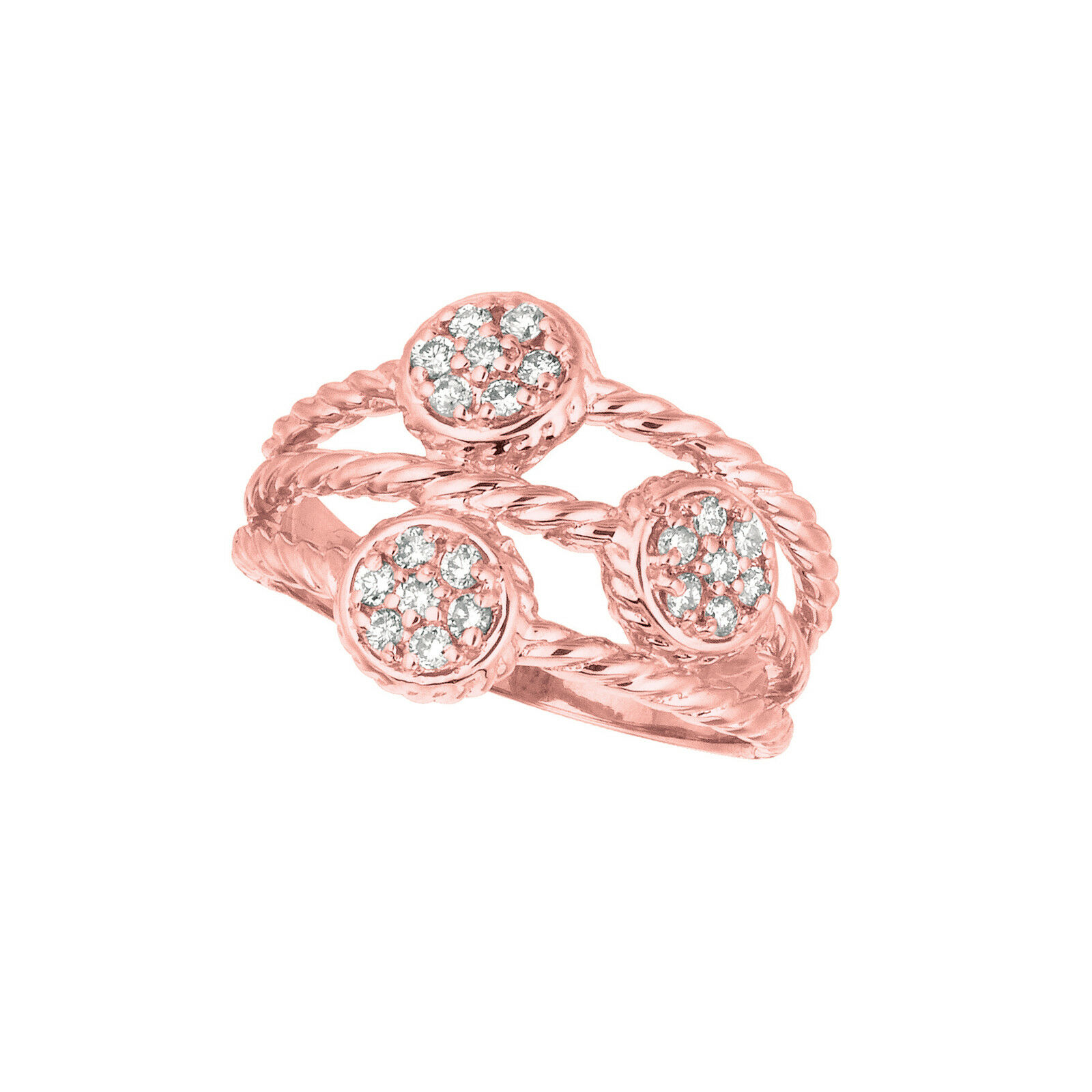 0.34 CT Diamond ring Set In 14K pink gold IDJR6886PD