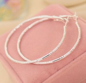 LARGE-WHITE-GOLD-PLATED-DESIGN-HOOP-EARRINGS-60MM-HYPOALLERGENIC-GIFT-WGL34