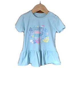 DADDY'S LITTLE MERMAID Baby Girl's Blue Short Sleeve Tshirt - Size 18-24 Months