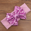 Baby Infant Kids Girls Hair Band Bling Sequined Bow Knot Headband Elastic Turban