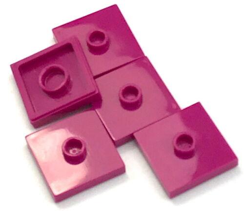 Baukästen & Konstruktion Lego 5 New Magenta Platten Modifiziert 2 X 2 mit Rillen 1 Stud in Center Jumpers LEGO Bausteine & Bauzubehör