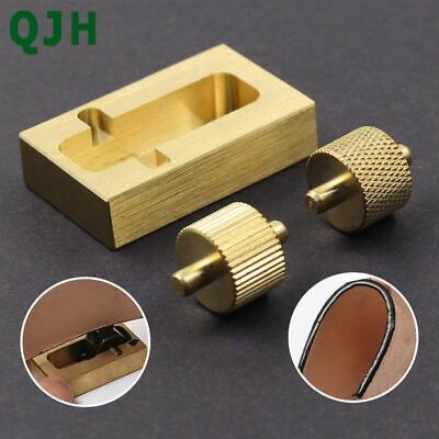 For Leather Making Tools 2 Rollers Pure Copper Craft Carving Edge Dye Oil Sewing