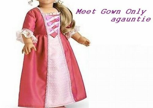 American Girl Elizabeth Meet Dress GOWN Outfit Addy Cecile Felicity Marie-Grace