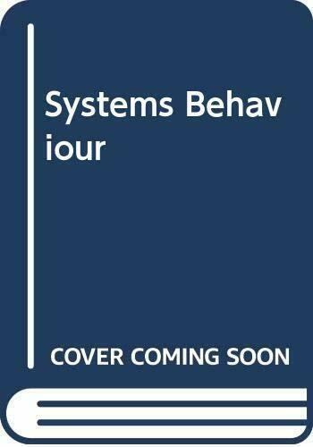 Systems Behaviour Paperback Book The Fast Free Shipping