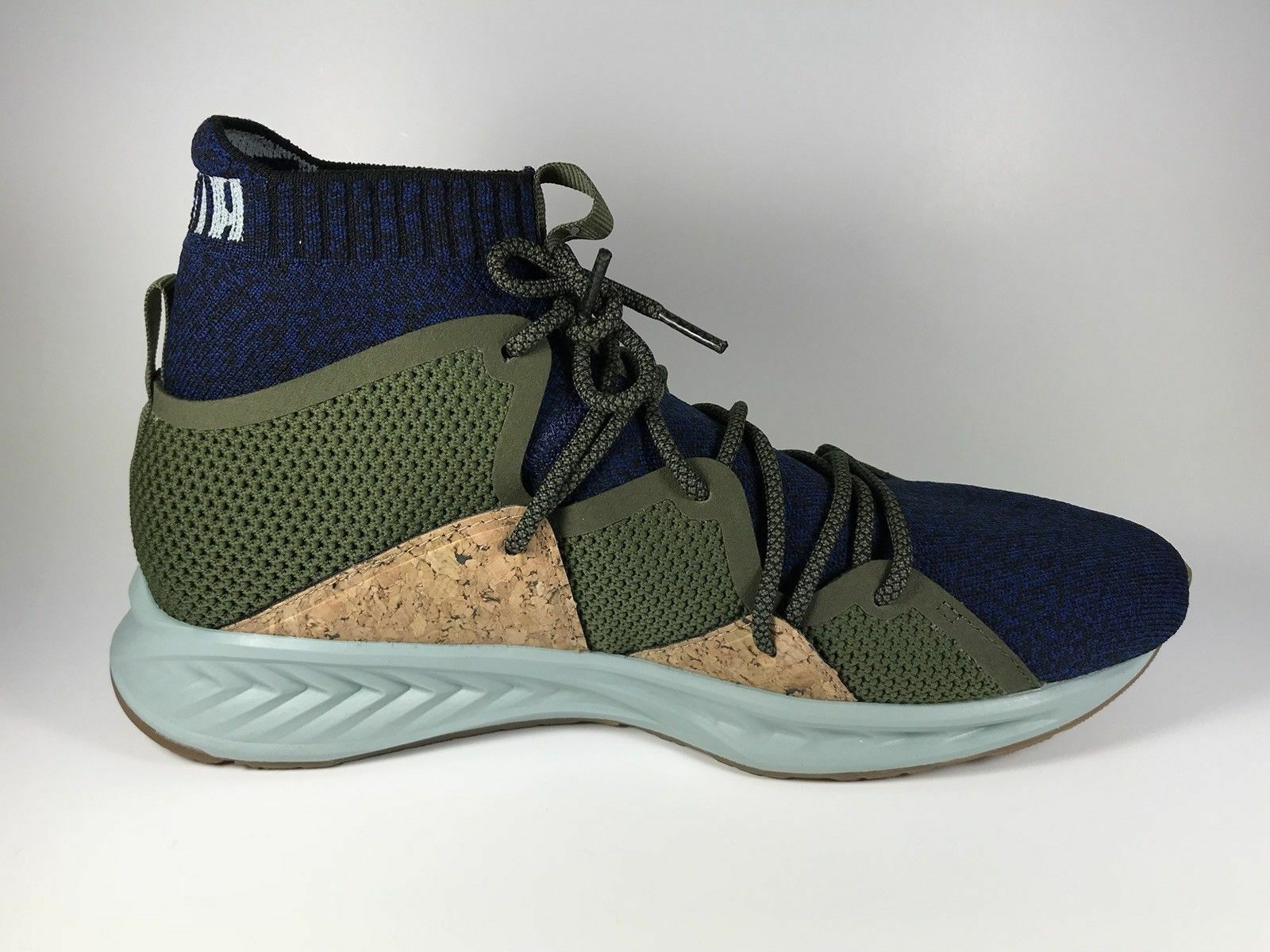 Zapatillas deportivas Puma Ignite evoknit Onda MID Hombres Zapatos Oliva 365858-02 Nuevo