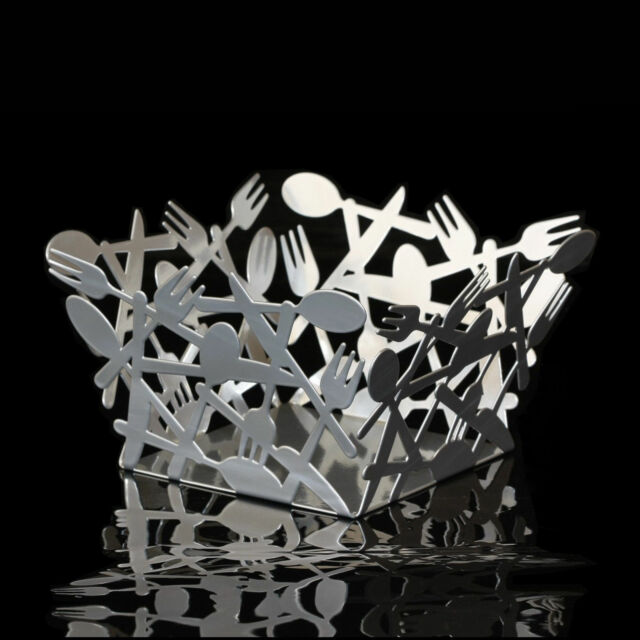 French-Style Iron Fruit Bowl Plate   ---------  Dark Silver       Iof-39B