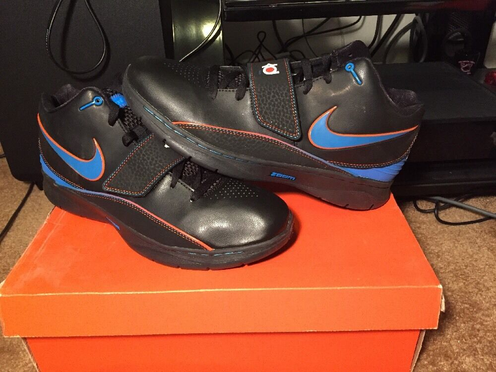neue nike kd ii 2 schwarz - blaue team orange okc foto weg größe 11 okc orange f1eb69