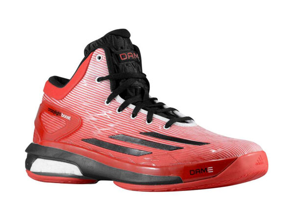 ADIDAS CRAZYLIGHT BOOST DAMIAN LILLARD  RED/WHITE/BLACK C76574