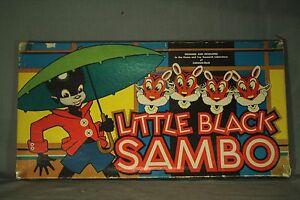 Petit Noir Sambo Jeu De Société 1953 Edition.box Plateau Spinner Game Pièces