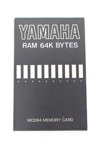 Yamaha-Ram-64k-Bytes-MCD64-Memory-Card