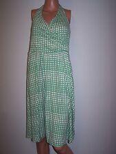 Boden Women Dress Size UK 12R/ US 8R Polka Dot Knit Dress Green/White