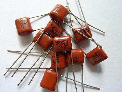 20pcs 400V 223 K 0.022uf 22nf 22000pf P8 CL21 CBB metal film capacitor