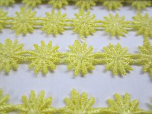 2-METER-Gelb-GPO-Spitze-1-3cm-breit-Hochwertig-Borte-Gpo-141-Nichtelastisch