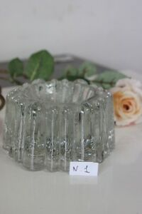 ANTICO FERMACARTE  IN VETRO \ VINTAGE GLASS PIANO COSTER CUP / POSACENERE