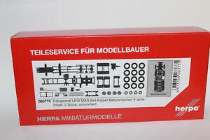 HERPA-083775-chassis-on-8x4-engins-de-chantier-1-87-h0-NEUF-dans-emballage-d-039-origine