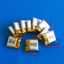 10 pcs 180mAh Li-Po 602020 Rechargeable Battery 3.7V for Headset Bluetooth MP3