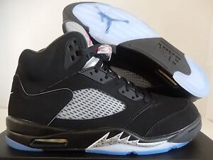 83be94bfc876 NIKE AIR JORDAN 5 RETRO OG BLACK-FIRE RED-METALLIC SILVER SZ 15 ...