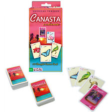 NEW Deluxe CANASTA CALIENTE card game 110 custom cards OFFICIAL REVISED VERSION