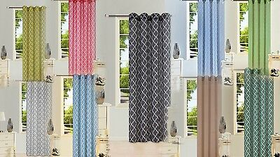 1PC GROMMET VOILE SHEER WINDOW PANEL CURTAIN GEOMETRIC PRINTED TAUPE//GOLD S38