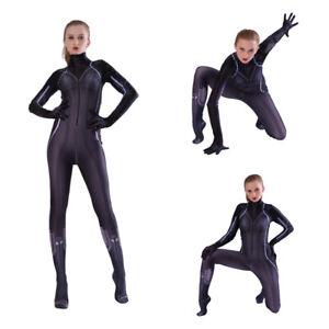 Avengers Endgame Black Widow Costume Natasha Romanoff Cosplay Outfits Jumpsuit Ebay