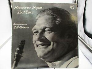 ZOOT SIMS HAWTHORNE NIGHTS VINYL LP 1977 PABLO RECORDS DEMO VG++ c VG+