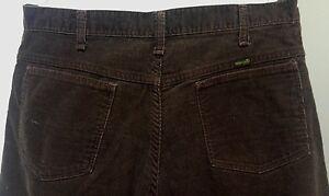Vintage-Blue-Bell-Wrangler-brown-corduroy-pants-original-size-36