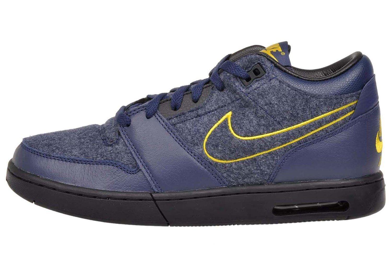 Nike Men's Air Stepback Premium Michigan, 685447 Sizes 8-11 Navy/Metallic Go