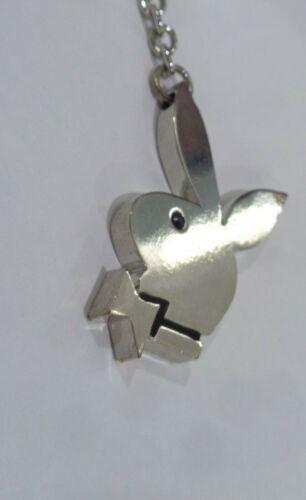 Playboy Bunny Keyring  Silver Playboy Engraved C2 PB43