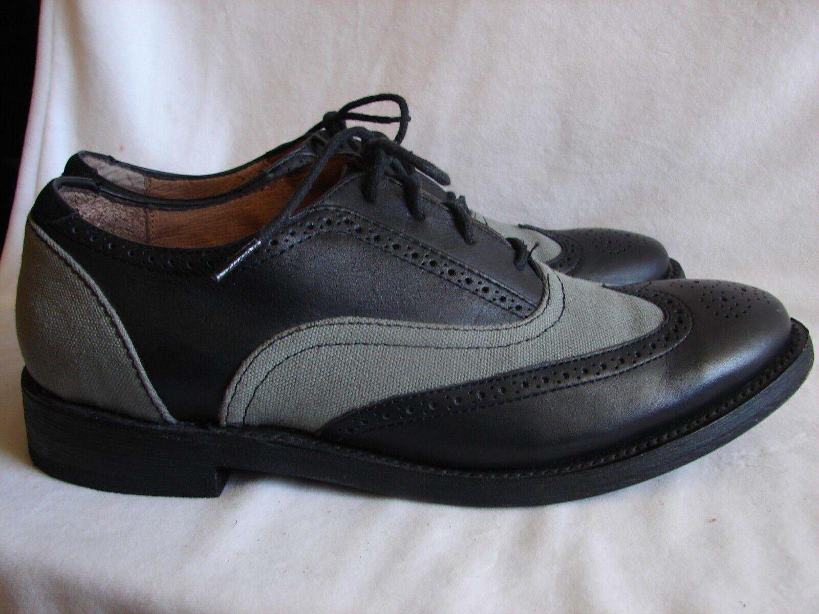 J.D. Fisk Leather Wingtip Oxfords Men's US Size 9
