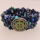 Carolyn Pollack Relios Sterling Lapis Turquoise Inlay Stretchable Bracelet