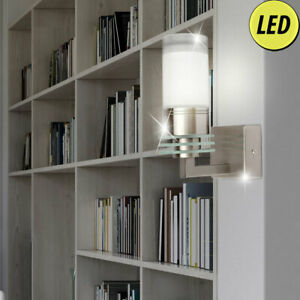 Wand Lampe Glas Leuchte Spot Leuchte weiß Beleuchtung Wohn Zimmer Bad Flur Diele