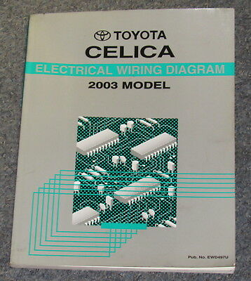 2003 Toyota Celica Electrical Wiring Diagram Service ...