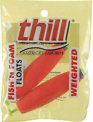Thill Fish /'N Foam Floats Weighted Ultra-Buoyant Hi-Vis Orange Bobbers