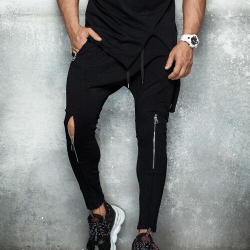 By Alina Herren Oversize Deep O NecK T-Shirt Longshirt Kurzarm Rundhals Zipper