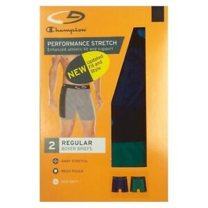 C9 Champion® DUO DRY® Men's Performance Stretch REGULAR Boxer Brief 2-Pack