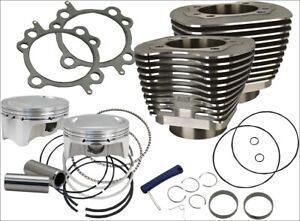 S-amp-S-Cycle-910-0481-Black-98-034-CI-Big-Bore-Cylinder-Kit-9-8-1-for-99-06-Harley
