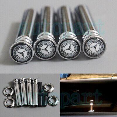Modengzhe 4 Pcs 8mm Dia Aluminum Alloy Non-Slip Knurled Car Door Lock Pins Silver Compatible with Mercedes-Benz GLA CLA GLK GL Series A-Class B-Class /& Old E-Class