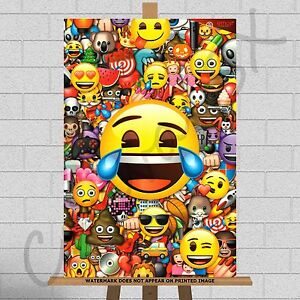 Image is loading Emoji-Emojis-Framed-Canvas-Print-Picture-Poster-A3-  sc 1 st  eBay : emoji wall art - www.pureclipart.com